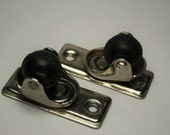 Caster Wheels - Metal Frames with Rubber Wheels - Small Size - Light Duty