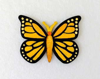 Magnets - Wall Art - Hand Oil Painted And 3D Print - Includes small pieces of Mount Tape As Alternative - Item Butterfly B