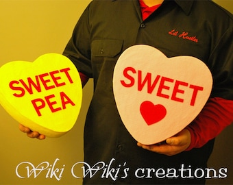 Giant Candy Hearts- Custom colors & Words