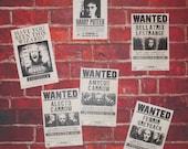 Harry Potter Wanted Poster Set of 6 - Sirius Black, Bellatrix Lestrange, Fenrir Greyback, Carrow - FINISHED PRODUCT - NOT digital/printable