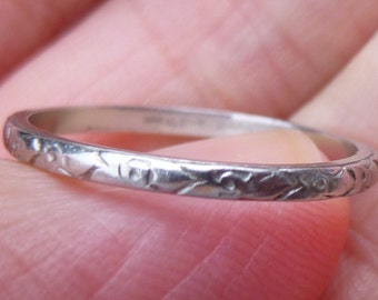 1930s  Platinum eternity ring  wedding ring  anniversary ring   great stacker band   Eternity Band  Size 7