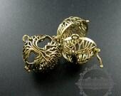5pcs 26mm vintage style bronze filigree life of tree wish prayer box ball locket pendant charm DIY supplies findings 1810430