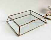 RESERVED for Kim. Glass Display Box Glass Jewelry Box Wedding Display Box Clear Glass Jewelry Box Truncated Pyramid Box. Made To Order