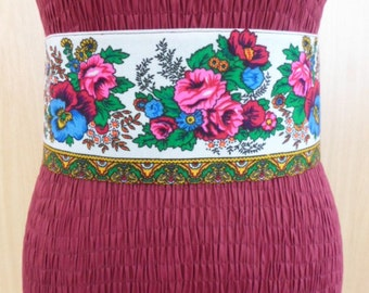 NEW Gypsy Belt Flower Belt Russian Belt Adjustable Hand made Belt