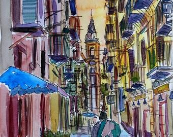 Fascinating Palermo Sicily Street Scene - Limited Edition Fine Art Print