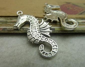 20pcs 20*38mm antique silver  sea horse animal charms pendant C7195