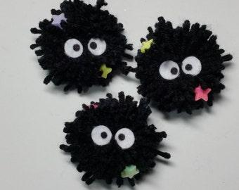 Soot Spirits Hair Clip and Brooch-Soot Spirits-Totoro-Spirited Away- Anime-Hair Accessories
