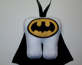 """7"""" Batman Inspired Tooth Fairy Pillow with Ribbon"""