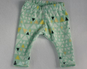 Organic Seafoam Triangles Baby and Toddler Leggings