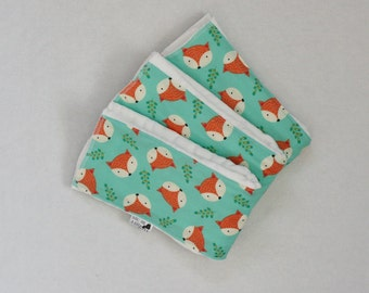 Set of 3 Foxy Burp Cloths