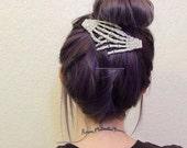 Skeleton Hair Clips