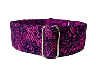 Orchid Lace Martingale Collar or Buckle Dog Collar