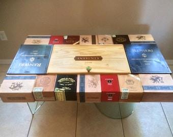 Cigar and Wine box Coffee table