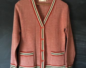 Vintage White Stag grandpa Cardigan sweater