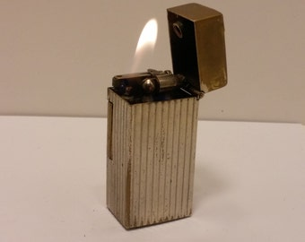 1950s Copy of Parker Dunhill Table Lighter No 125 - Chrome & Brass finish - works well, strong spark
