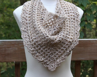 The Valentina Scarf in Buff Fleck - Ready to Ship