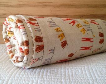Baby Crib Travel Stroller Blanket HEATHER ROSS Far Away RARE