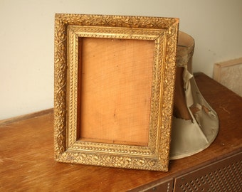 Vintage Wood Victorian Style Picture Frame, Wedding Frame, Home Decor, Gold Frame, Wedding Decor