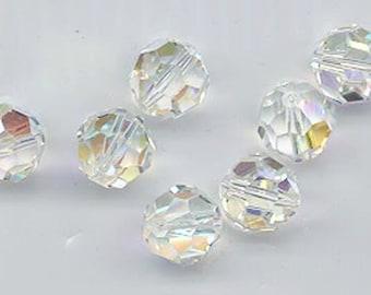 24 gorgeous Swarovski crystals - art 5000 - 6 mm - crystal AB