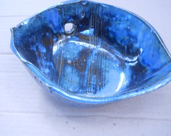 SHELL BOWL with hole great for plants soap