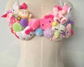 Kawaii Custom plush bra top costume rave bra Dollz for days 32A