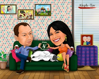 Family Caricatures - suitable for any occasions