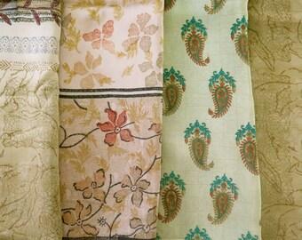 Fat Quarters, Silk Fabric, Sari Silk FQ112