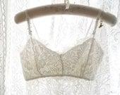 Boho Bohemian Gypsy Eyelashes French Lace Crop Top Beautiful White Lace Bralette Bralete Cami Camisole Romantic Angel