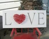 LOVE Heart String Art Sign Gift