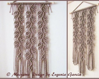 Macrame Wall Hanging - Sprigs #4 - Handmade Macrame Home Decor/Macrame Wall Art/Rope Art/Rope Weaving/Rope Braiding by Evgenia Garcia