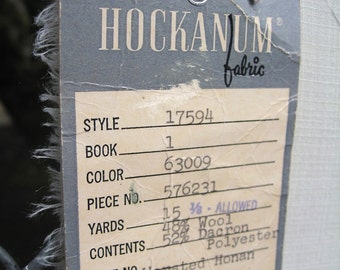 Stevens Hockanum Fabric is Cream Colored Worsted Honum Wool Dacron Polyester Mix Has Lovely Feel 60 Inches Square