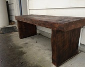 Savaged Fir Beam Bench
