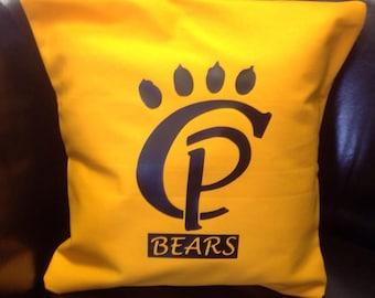 School Logo Signature Pillow Cover