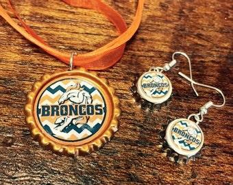 Denver Broncos Jewelry Set