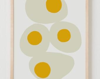 Fine Art Print.  Fried Eggs for Breakfast.  March 23, 2014.
