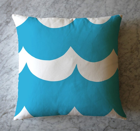 Turquoise Waves Throw Pillow. June 13, 2016