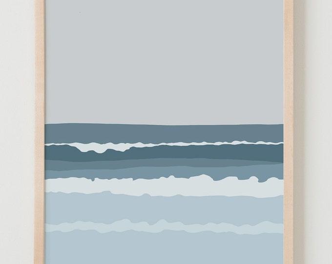 Fine Art Print. Waves. July 25, 2013.
