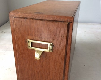 Vintage Weiss Wood File Drawer
