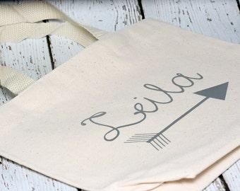 Custom Name Tote Bag, 11 x 8-1/2 inches