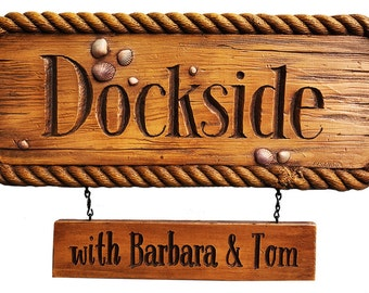 Dockside Nautical Personalized Sign