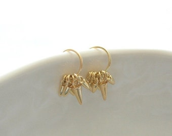 Delicate simple everyday renegade mini cluster hoops earrings