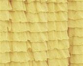 Lemon Yellow 2 Inch Ruffle Fabric by the Yard