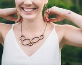 Necklace - wooden necklace - made in Australia - eco women