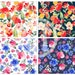 Floral Mix printed vinyl or heat transfer vinyl (iron on) in 6x6, 8.5x11, 12x12, 12x24 and 12x36