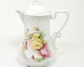 Vintage German Porcelain Teapot, Elegant Porcelain Teapot Made in Germany