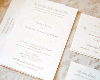 Hemingway Collection | Wedding Invitation & additional pieces | Printed by Darby Cards Collective