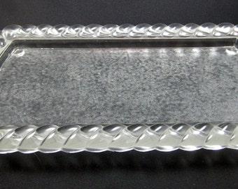 Vintage Depression Glass Vanity Tray