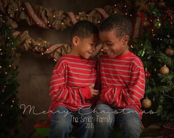 PRINTABLE 4x6 OR 5x7 DIGITAL Christmas Holiday Card Merry Christmas Customizable