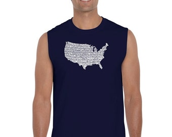 Men's Sleeveless Shirt - The Star Sangled Banner