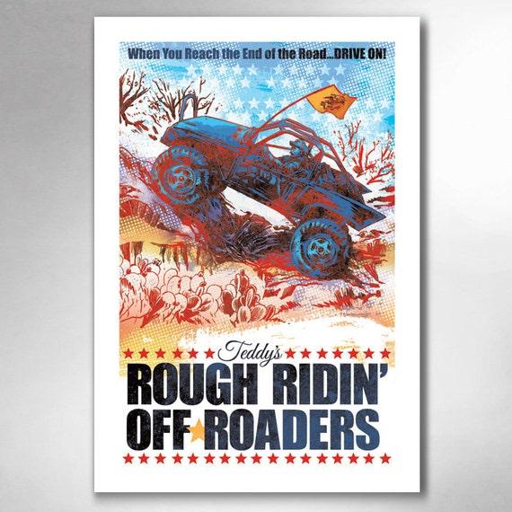 Teddys Rough Ridin Off-Roaders 13x19 Art Print by Rob Ozborne